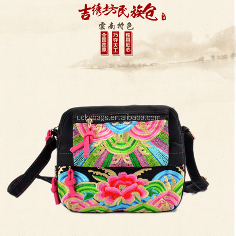 bali handmade ethnic embroidery china cloth tribe thai tribe handbag woman messenger bags