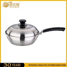 Stainless steel deep frying pan as seen on tv fry pan