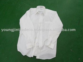 Used Clothing, Men's White Y-Shirts
