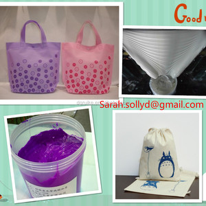 Non pvc plastisol screen printing ink used for non-woven bags/ on cotton