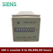0 to 99,999,99 hours mechanical digital hour meter HM-1 counter