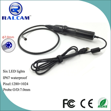 1.3MP 7mm diameter camera handheld usb endoscope for windows and laptop