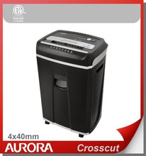 Aurora AS2030CD Plastic Paper Shredder, 20 sheet (A4) Cross cut 4 x 40mm,Heavy Duty Shredding machine for Office