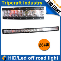 led driving light manufacturer high power 264w 22400 lumens curved off road led light bar, 50 inch curved off road led light bar