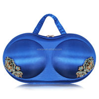 New Arrival Best quality Smooth space Blue Bra Organizer Bras Bags Women Travel bags