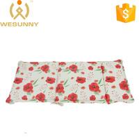 Waterproof Red Flower Printing Lengthen Sun Loungers Cushion