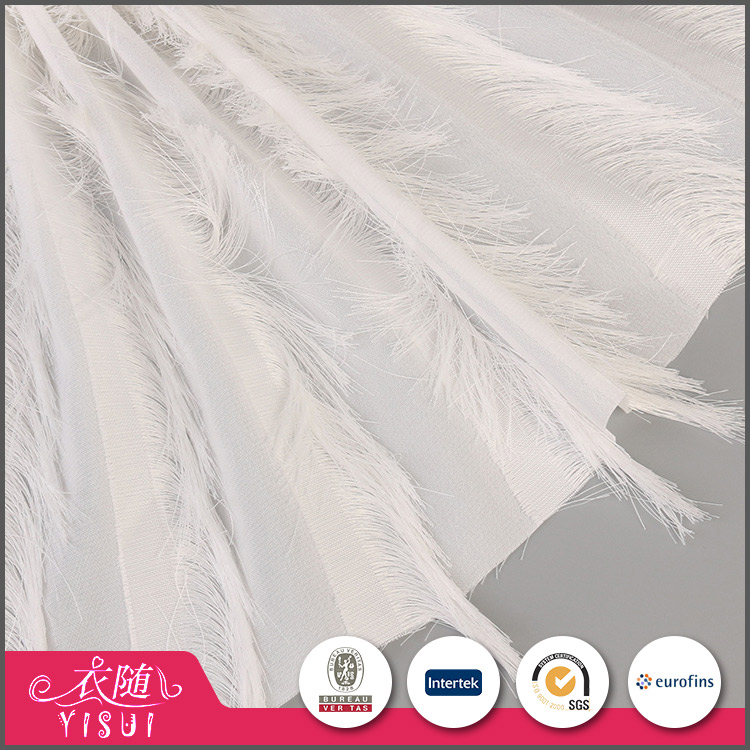 Fast delivery beautiful comfortable white lace velvet fabric wholesale