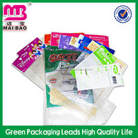 Custom print clear resealable plastic opp bags header bag