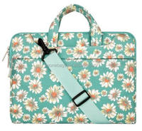 Fancy printed women canvas laptop shoulder bag with adjustable shoulder strap