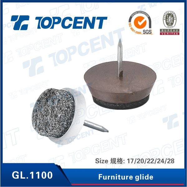 good quality furniture hardware plastic chair teflon glides