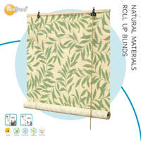 Office bamboo top sale curtain blinds