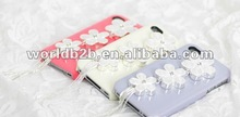 Decoration flower hard case for Iphone 4s/ 4