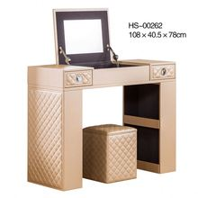 Bedroom furniture leather bedroom dresser/makeup dresser/mirrored dresser