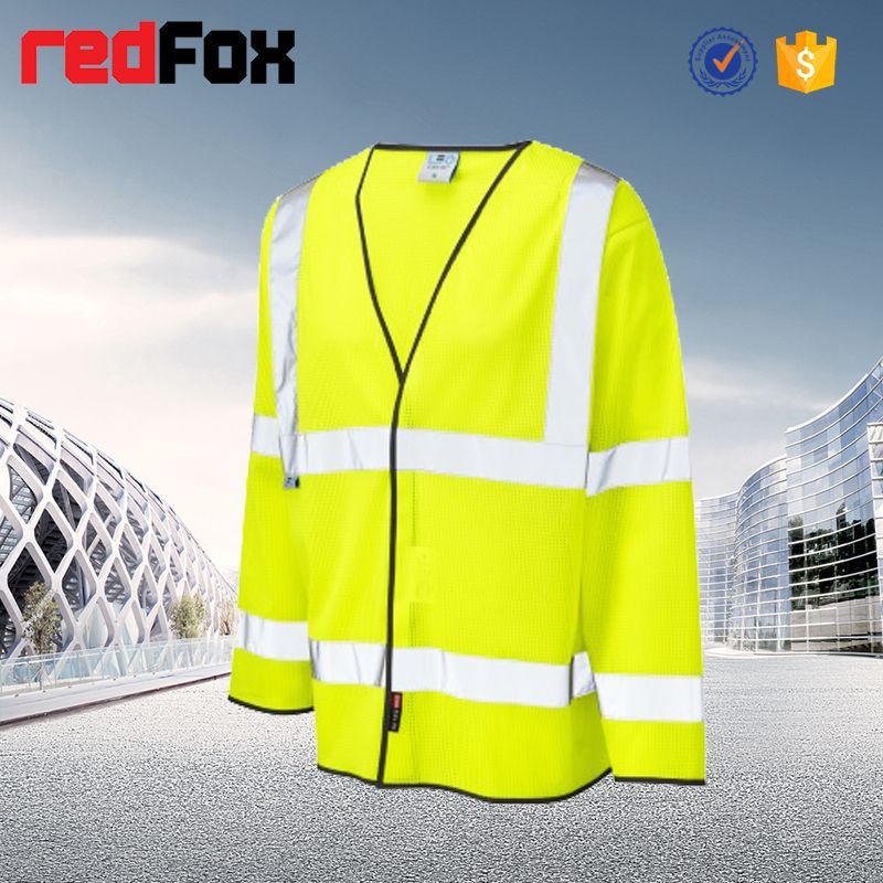 wholesale waterproof high visibility safety black and white polka dots jacket