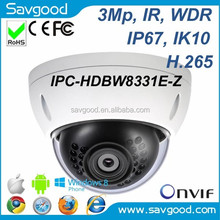 Cctv camera system IPC-HDBW8331E-Z with varifocal motorized lens Dahua ip Dome Camera 3MP HD Vandal-proof IR Ultra WDR Camera