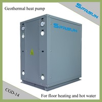 Geothermal heat pump for floor heat and hot water 14KW (CGD-14)