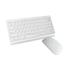 Ultra Slim Flat Wireless Bluetooth Keyboard for iPad / iPhone with mouse