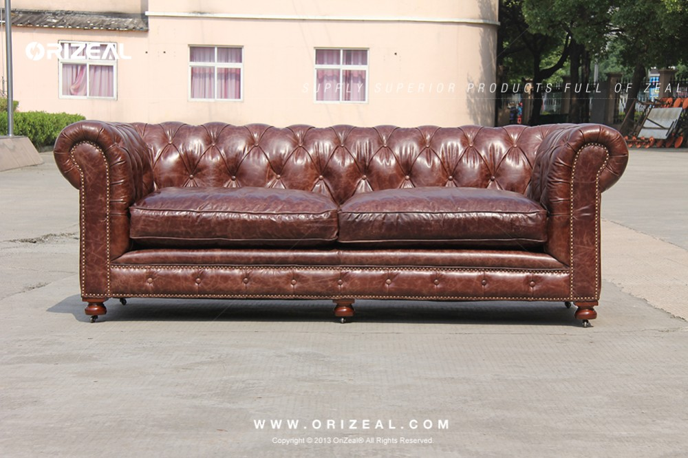 Orizeal Ahri Leather Sectional Sofa (OZ-LS-2055)