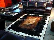 2015 new high quality custom luxury leather living room coffee table carpet tile carpet rug den OEM production