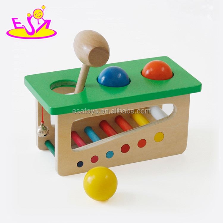 Wholesale educational game wooden hammer <strong>toy</strong> for children W11G040