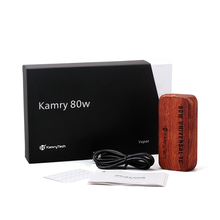 high vapor e-cigarette Kamry 80w TC wood box vaporizer kit