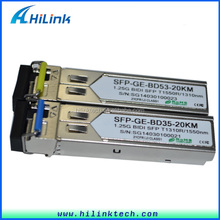 BIDI SFP modules 20km 1310nm/1550nm 1.25g gbic wdm