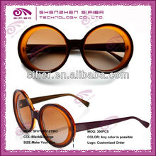 Orange Retro OEM Round Sunglasses