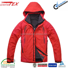 custom red varsity outdoor ski jacket for men