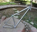 titanium mtb bke frame customized titanium mountain bike frame with handing brush finished xacd made ti bike frame