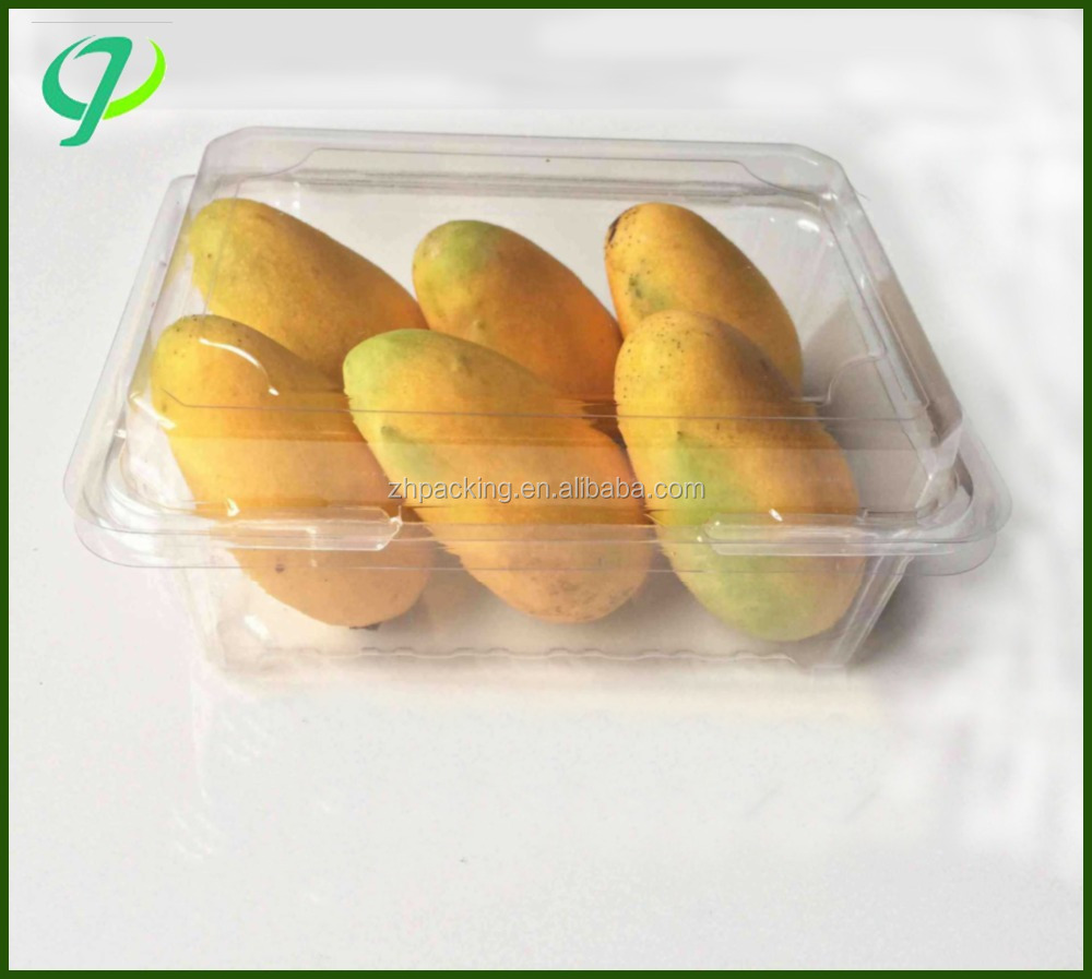 Clear disposable cheap packaging PET plastic food fruit tray
