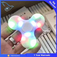 LED Bluetooth Speaker Hand Spinner Top Decompression Tri Spinning Toys