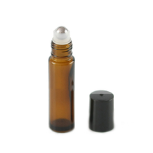Amber Glass Essential Oil Roller ball Bottles 10ml Glass Roll on Bottles