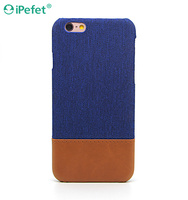 Newest Wholesale Hybrid Hard PC PU Leather phone case factory for iPhone 6