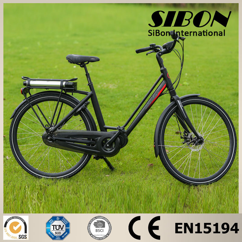 SIBON 250w 8 fun built-in brushless motor nexus 3 speed disc brake e road electric bike
