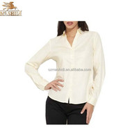 custom cotton yellow formal long sleeve shirts for girls