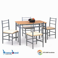 fabric metal frame Dining table and chair