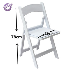 ZY39190 Classic White Wood Padded plastic outdoor Folding American Chair for wedding
