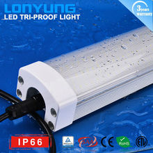 IP66 TUV SAA ETL approvel out door lighting LED Tri-proof light 65w 6500k 4u energy saving lamp