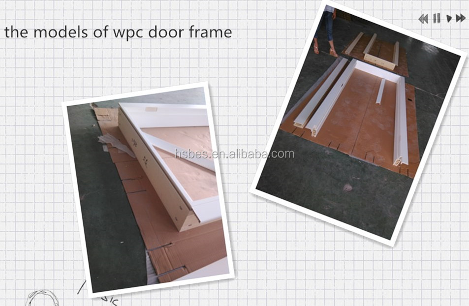 Pvc Door Frame Detail : Wood and plastic composition door frame for indoor