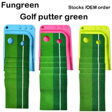 Indoor Golf Putting Trainer Ball Return 2.5M/3M Portable Golf Practice Putting Mat Golf Putter Green Trainer