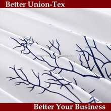 Cheap price top quality customize 300T cotton white printed bed sheet in king size