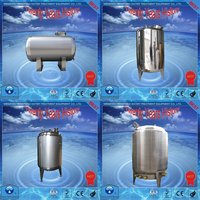 supply high quality SS304/SS316 water storage tank