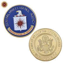 New Products 2018 Central Intelligence Agency US Metal Coin 24K Gold Plated Commemorative Coin Birthday Gifts