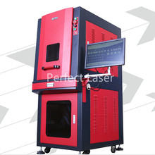 Good performance stainless steel ring 20w fiber laser engraving machine color marking with PC
