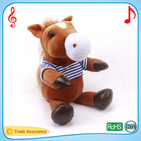 26cm singing and dancing horse puppet electronic cuddle animal stuffed plush toys