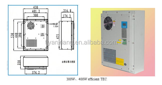 DC48V TEC Peltier Air Conditioner For Outdoor Telecom Cabinet