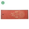 ECO Manufacture made rubber yoga matt, high quality, custom print eco yoga mats