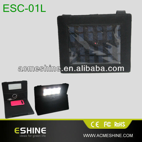 Portable solar charger bag, widely use for camping/tent, as a table/reading/lantern light.