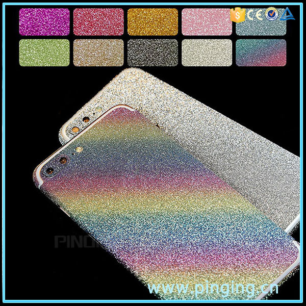 Glitter full body mobile phone skin sticker for iphone 7,cellphone skin body sticker for iphone 7 7plus