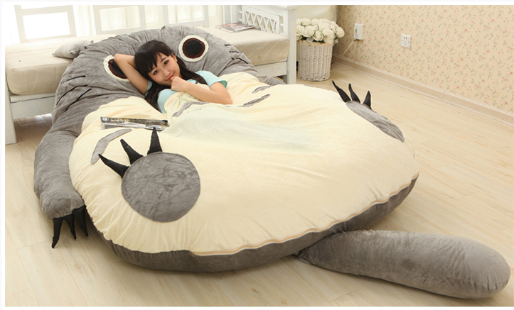 Totoro lazy man tatami bed for double bed